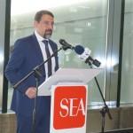 Mario Chaves, CEO Interiono da Cabo Verde, na chegada do voo em Milão