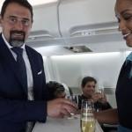 Mario Chaves estava a bordo do primeiro voo Ilha do Sal - Milão