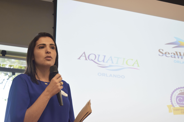 Marjori Schroeder, representante de Marketing do SeaWorld Parks & Entertainment