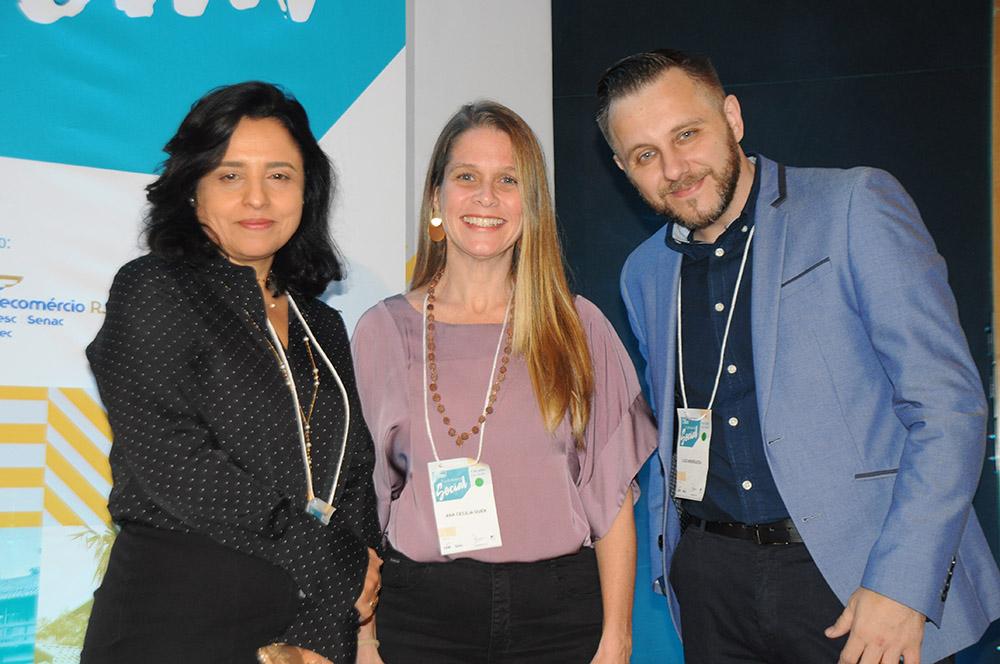 Monica Samia, CEO da Braztoa, Ana Cecília Duek, diretora do Viajar Verde, e Luiz Andreaza, diretor do Vai Voando