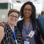 Nádia Kardouss, gerente de Vendas da Aviareps, e Yvanca Rodrigues, diretora de Vendas da Cabo Verde