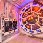 Os hóspedes poderão assistir filmes na Estrela da Morte