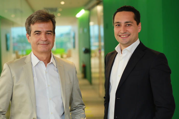 Paulo Henrique e Pires e Bruno Lasansky, diretor de Vendas e COO da Localiza Hertz
