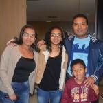 Marildo Santos, da Aktual Turismo com sua família Raquel, Cinthia e Samuel.