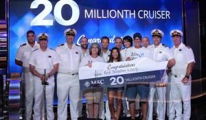 MSC Cruzeiros atinge marca de 20 milhões de passageiros
