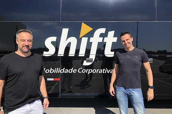 Renato Kiste e Alexandre Pinto, sócios da Shift Mobilidade Corporativa