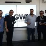 Roberto Araujo, Claiton Armelin e Elcio na GWA Turismo