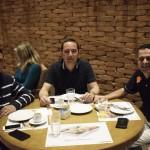 Robson Vaz, da FLV Viagens; Jefferson Melo da High Trip; e Wagner Lamana, da Flytour Viagens