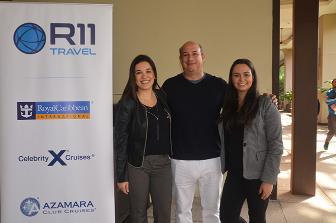 Sabrina Moretti, Gerente de Vendas, Alexander Haim, Diretor Comercial e Barbara Benevenuto, coordenadora de Marketing da R11 Travel