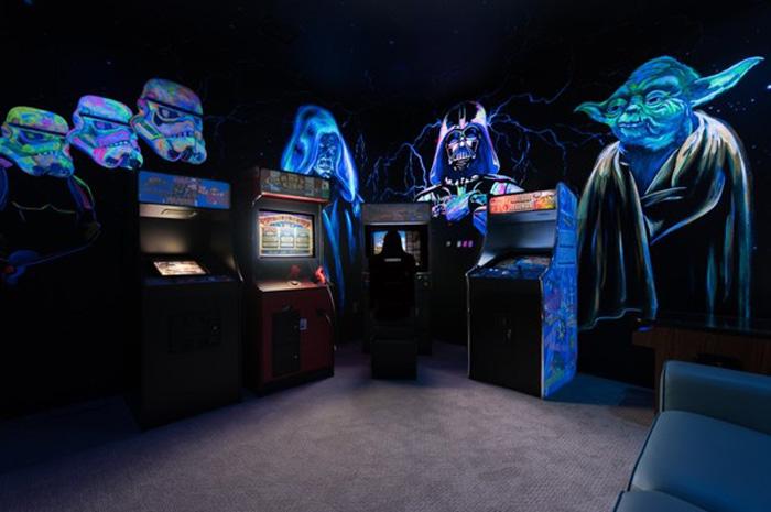 Sala de jogos inspirados na saga de Star Wars
