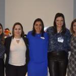 Juliana Bordin, RP do SeaWorld; Dra. Maria Claudia Brito, psicóloga; Marjori Schroeder, representante de Marketing do SeaWorld; Amanda Ribeiro, diretora executiva da Incluir Treinamentos; e Andréa Werner, jornalista