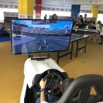 Simulador de corrida no Camarote Arena Kids