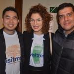 Thiago Akira, da Bonitoway, Juliana Queiroz, da Fundação de Turismo do Mato Grosso do Sul, e Dante Campos, da Braztoa