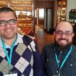 Thiago Meireles (Solutions, Serra Negra) e Paulo Ramos (P7 Turismo, Campinas)