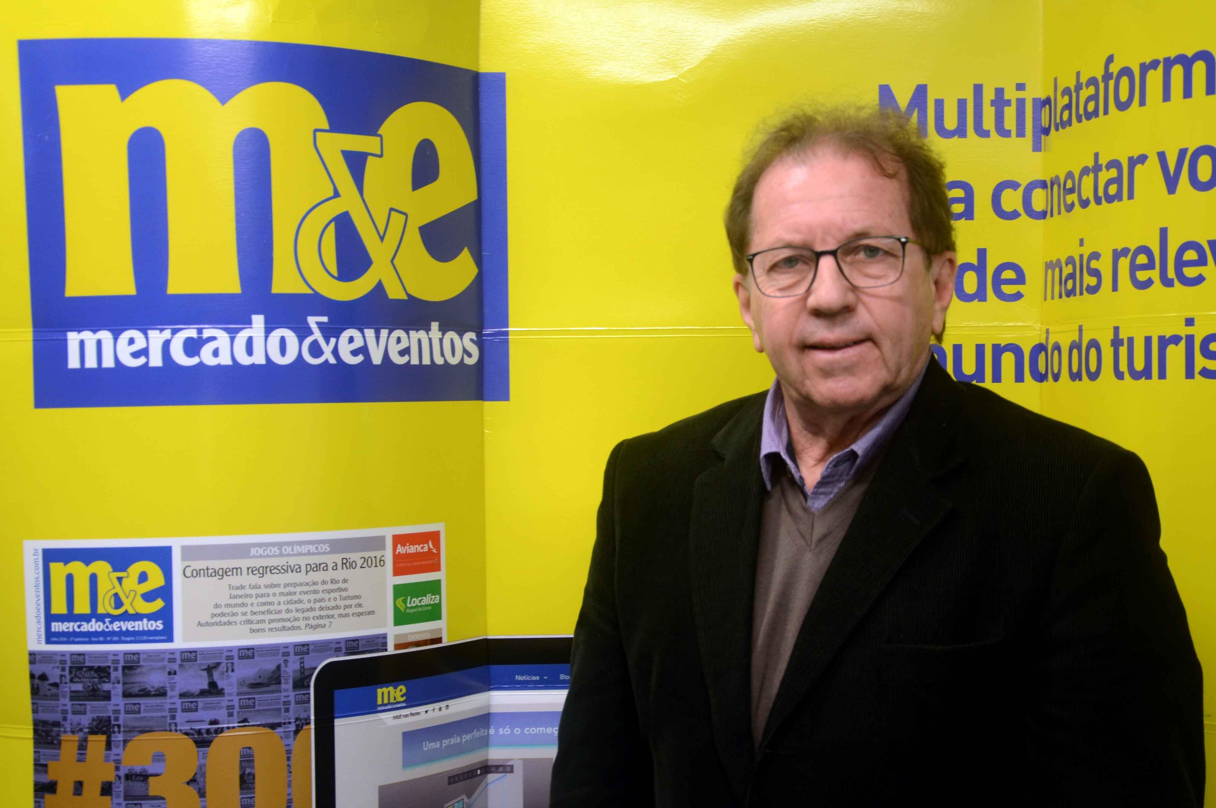 Valdir Walendowsky, secretário de Turismo de Balneário Camboriú, visitou a sede do M&E em São Paulo