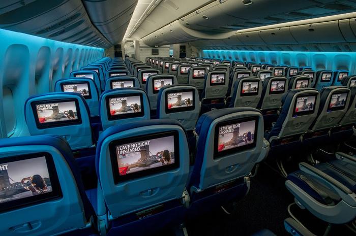 A Delta equipou a 700ª aeronave com telas de entretenimento a bordo, mais do que qualquer outra companhia aérea no mundo. (Divulgação)