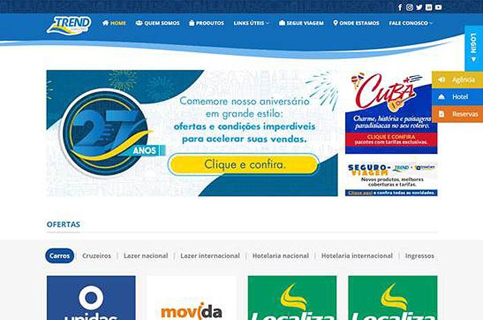 Portal da TREND conta com uma roupagem mais atualizada e renovada