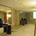 Área em comum do Spa, que conta com quatro salas de tratamento e sauna seca e à vapor