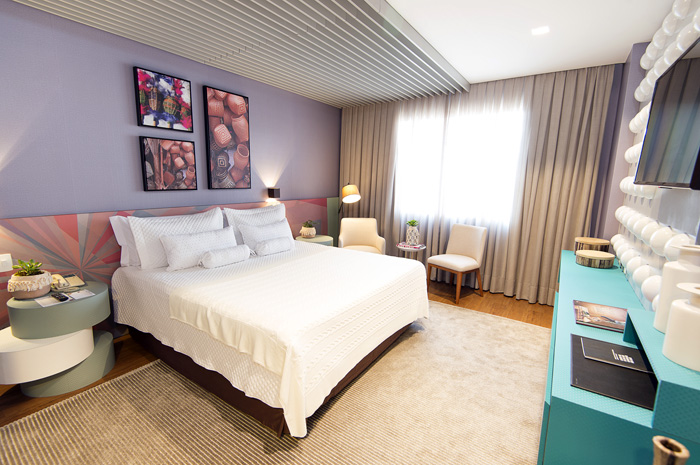 Modernidade e brasilidade foram os principais elementos usados pela designer para as novas propostas exclusivas do hotel