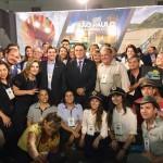 Vinicius Lummertz, secretário de Turismo de São Paulo, com parceiros expositores