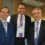 Adrian Ursilli, da MSC, Cláudio Vila Nova e Sylvio Ferraz, da CVC
