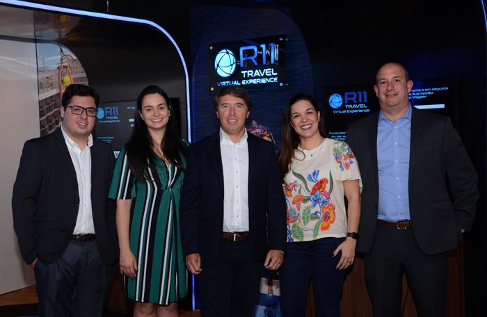 Alex Santos, Bárbara Benevenuto, Ricardo Amaral, Sabrina Moretti e Alexander Haim, da R11