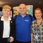 Aline Freitas, da RCA, Guilherme Reis, da Agaxtur, e Raquel Dias, da SKL Eventos e Turismo