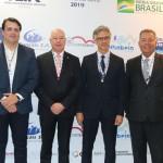 Aquiles da Costa, de Penha, deputado Herculano Passos, Marco Ferraz, da Clia e Alexandre Sampaio, da FBHA