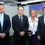 Assis Leite, presidente da Avirrp, Vinicius Lummertz, secretário de Turismo de São Paulo, Mari Masgrau, do M&E, e Duarte Nogueira, prefeito de Ribeirão Preto