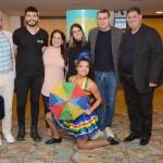 Braulio Moura, Edvaldo Xavier, Nara Galvão, e Hugo Coelho, do Instituto Ricardo Brennand, com Ana Paula Vilaça e Mustafá Dias, da Secretaria de Turismo do Refice