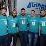 Carlos Barbassa, Ricardo Franco, Carlos Guerra, Fábio Provinciato, e Yuri Freitas, da Ancoradouro