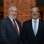 Celso Guelfi, da GTA, e Bob Santos, do MTur