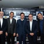 Cláudio Isolani, da BRT, Arnaldo Valenhes, da Gol, Marco Aurelio Di Ruzze, da BRT, Roberto Vagner,da Gol, e Vanderlei Folgueral, da BRT