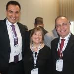 Cláudio Vila Nova e Orlando Palhares, da CVC, com Estela Farina, da NCL