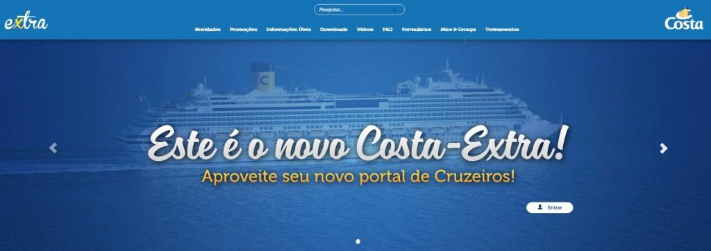 Costa Extra é o novo portal da Costa Cruzeiros para agentes de viagens