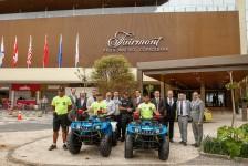 Hotéis do Rio entregam três quadriciclos restaurados à Polícia Militar