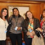 Cristina Reis, Sheila Valle, da Completando o Mapa, Marcia Costa, da Gigitour, e Renata Gonçalves, da Viiiva Viajando