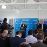 Cerimônia de inauguração do voo contou com a presença do Presidente da Argentina, Maurício Macri