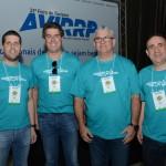 Daniel Castanho, Juarez Cintra Neto, Roberto Garbin, e Anthony Bringhente, da Ancoradouro