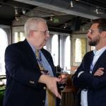David Potter, do consulado dos EUA, e Fabio Oliveira, presidente da Flytour MMT