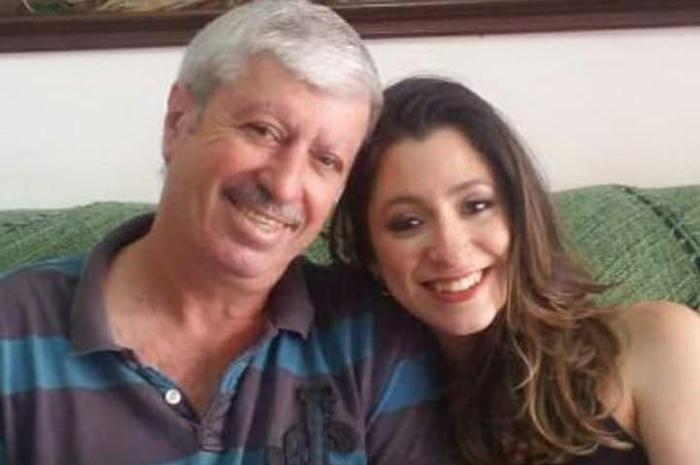 Dirceu Falsetti ao lado da filha Nathalia