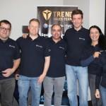 Diretoria da Trend - Roberto Araujo, Favoretto, Geroncio Junior, Fernando Giacometti, Cris Jayme e Ana Kuba