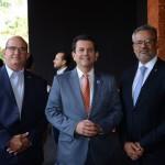 Edmilson Carlos Domingues, secretário de Turismo de Ribeirão Preto, Otávio Leite, secretário de Turismo do Rio de Janeiro, e Bob Santos, do MTur