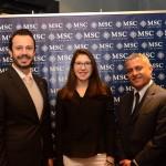 Eduardo Mariani, Renata Corbo, e Marco Cardoso, da MSC Cruzeiros