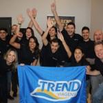Equipe da Trend durante o evento