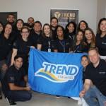 Equipe de líderes executivos da Trend junto com o Maurício Favoretto