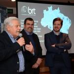 Eraldo Palmerini, presidente, Vanderlei Folgueral, gerente da filial SP, e Marco Aurelio Di Ruzze, vice presidente do Grupo BRT
