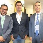 Fausto Franco, secretário de Turismo da Bahia, Antonio Neves, secretário executivo de Turismo de Pernambuco, e Rafael Brito, secretário de Turismo de Alagoas