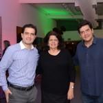 Fernando Nobre, da RCA, Jussara Haddad, do Consulado Americano, e Dante Campos, da Braztoa