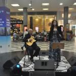 Festa do lançamento da Ponte Aérea contou com música ao vivo